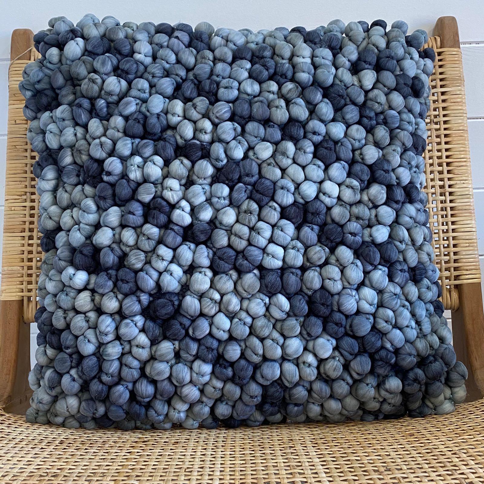Blue Pebble Cushion - Square