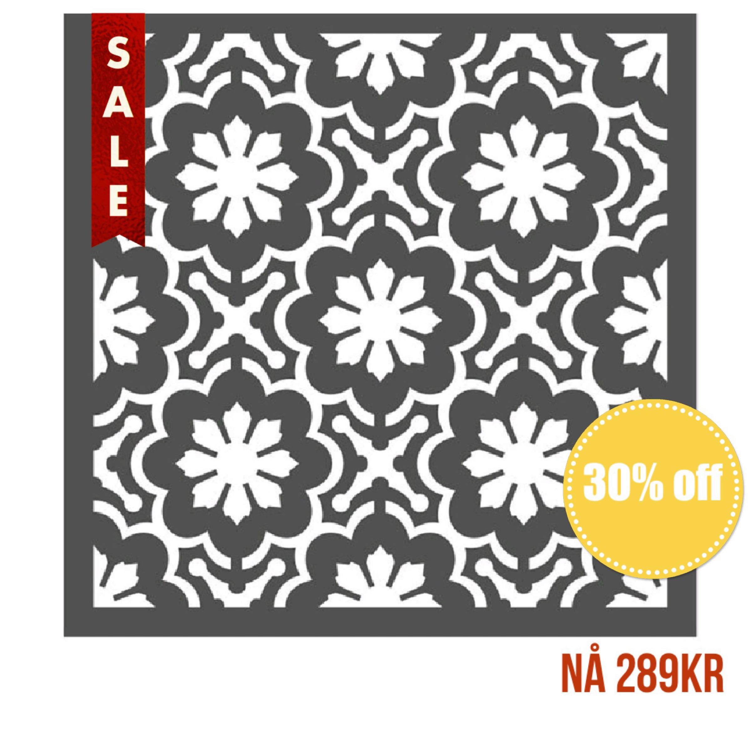 "Re-Design With Prima Wall Stencil / Sjablong - Dainty Fleur 22""x22"""