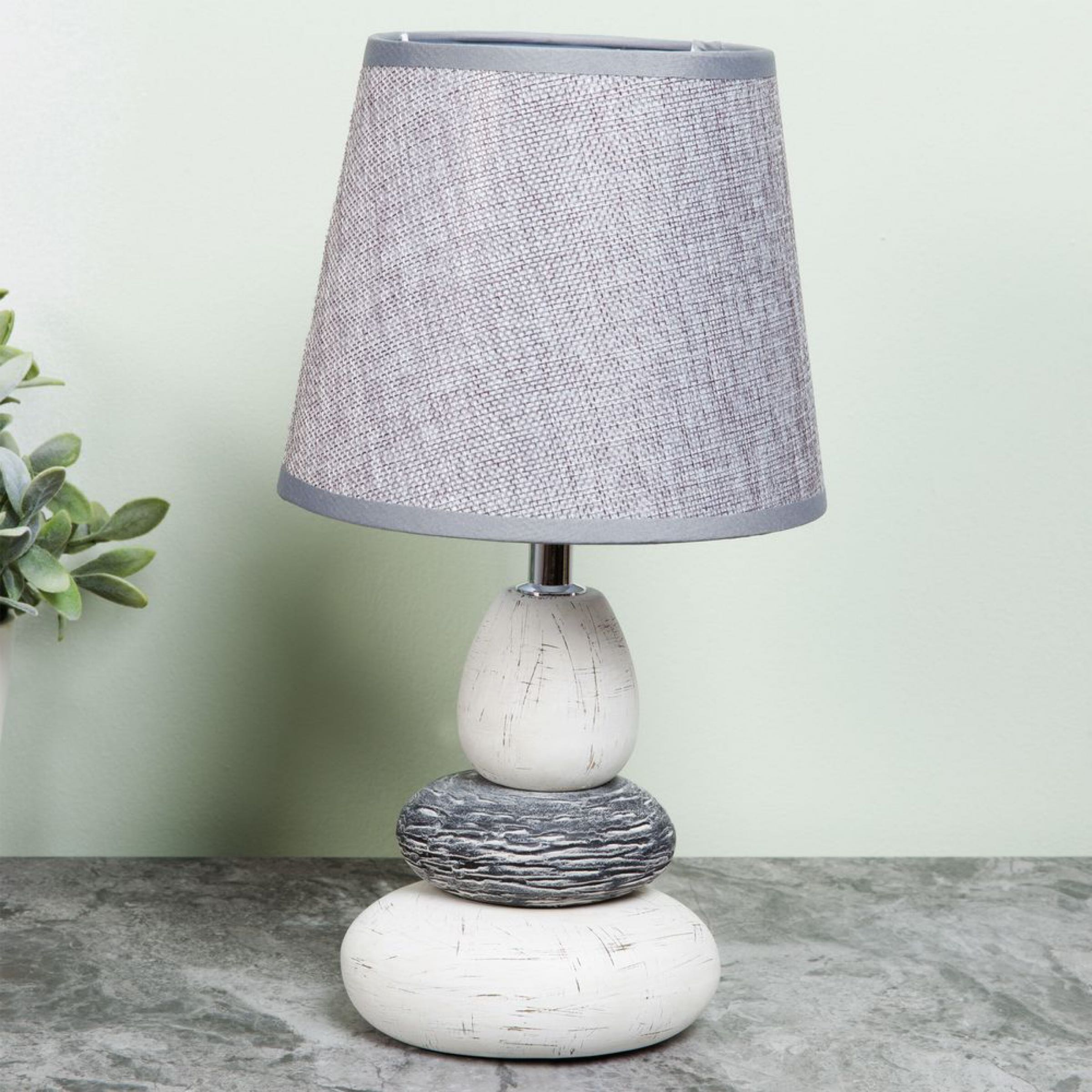 Moroccan Collection Pebble Lamp with Grey Shade 15cm