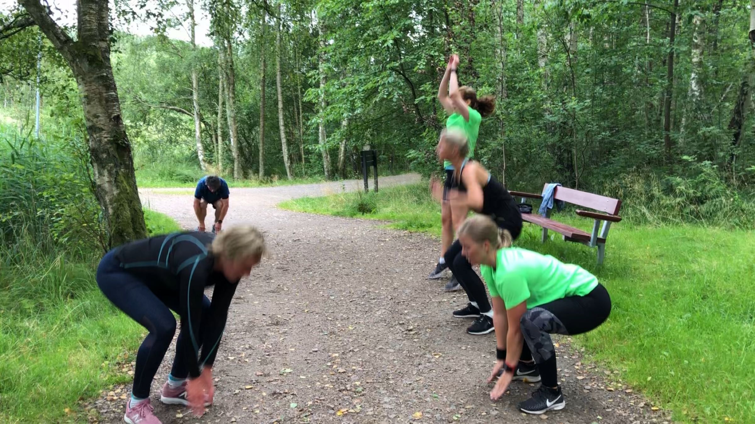 Styrka för löpare, gruppträning