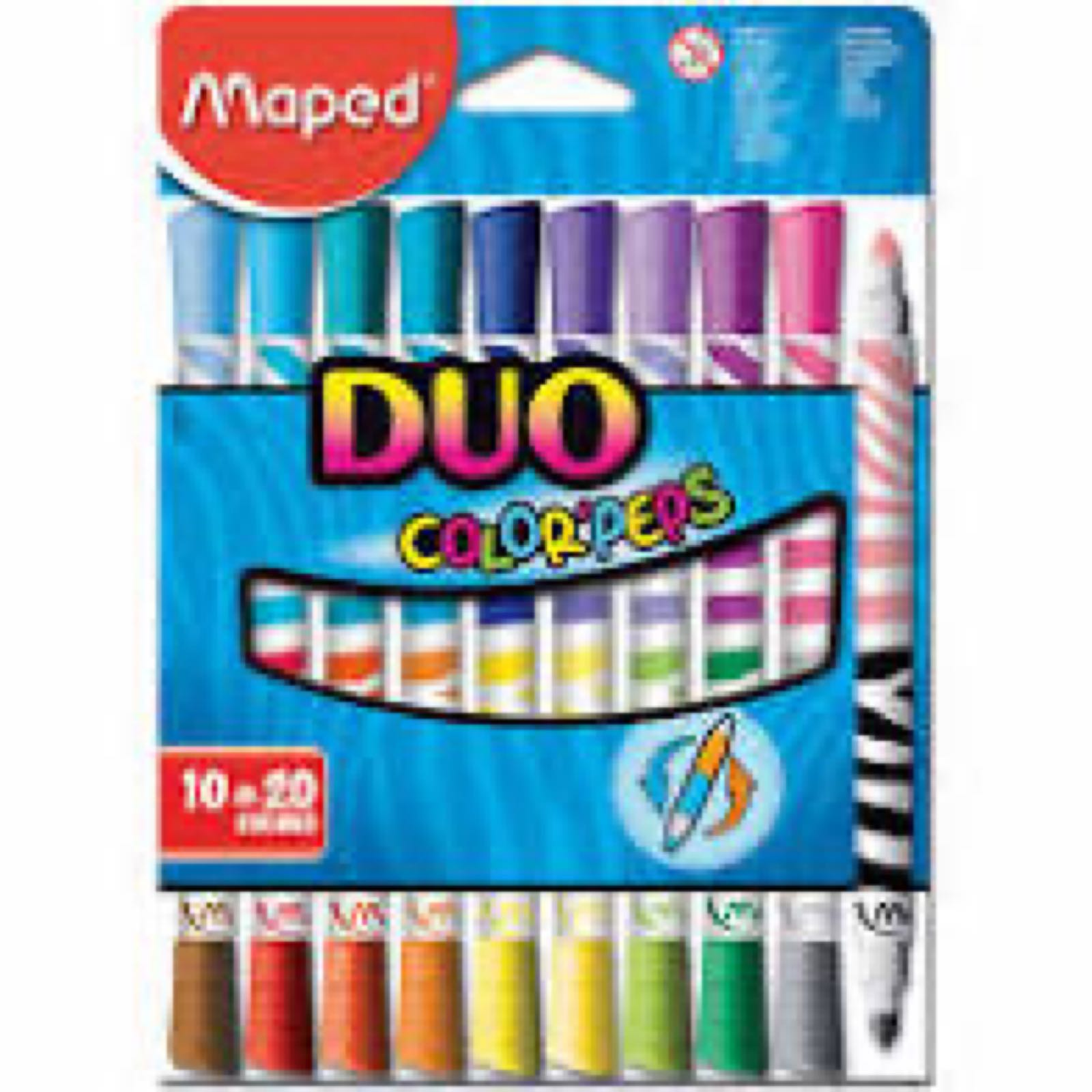 Duo Felt Tips 10 Pack - COLORPEPS