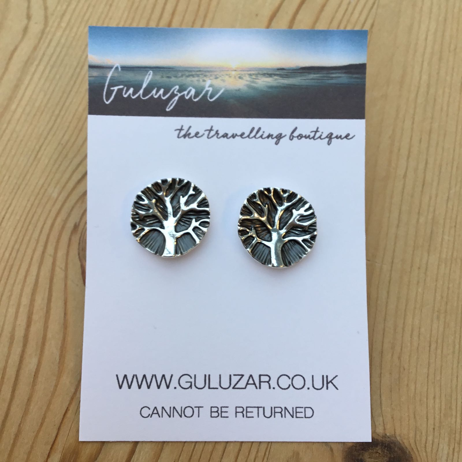 Tree of Life Earrings - Grey/Silver