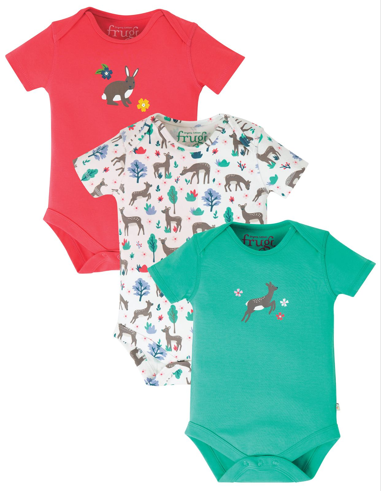 Frugi Super Special Bodies, Deer Multipack