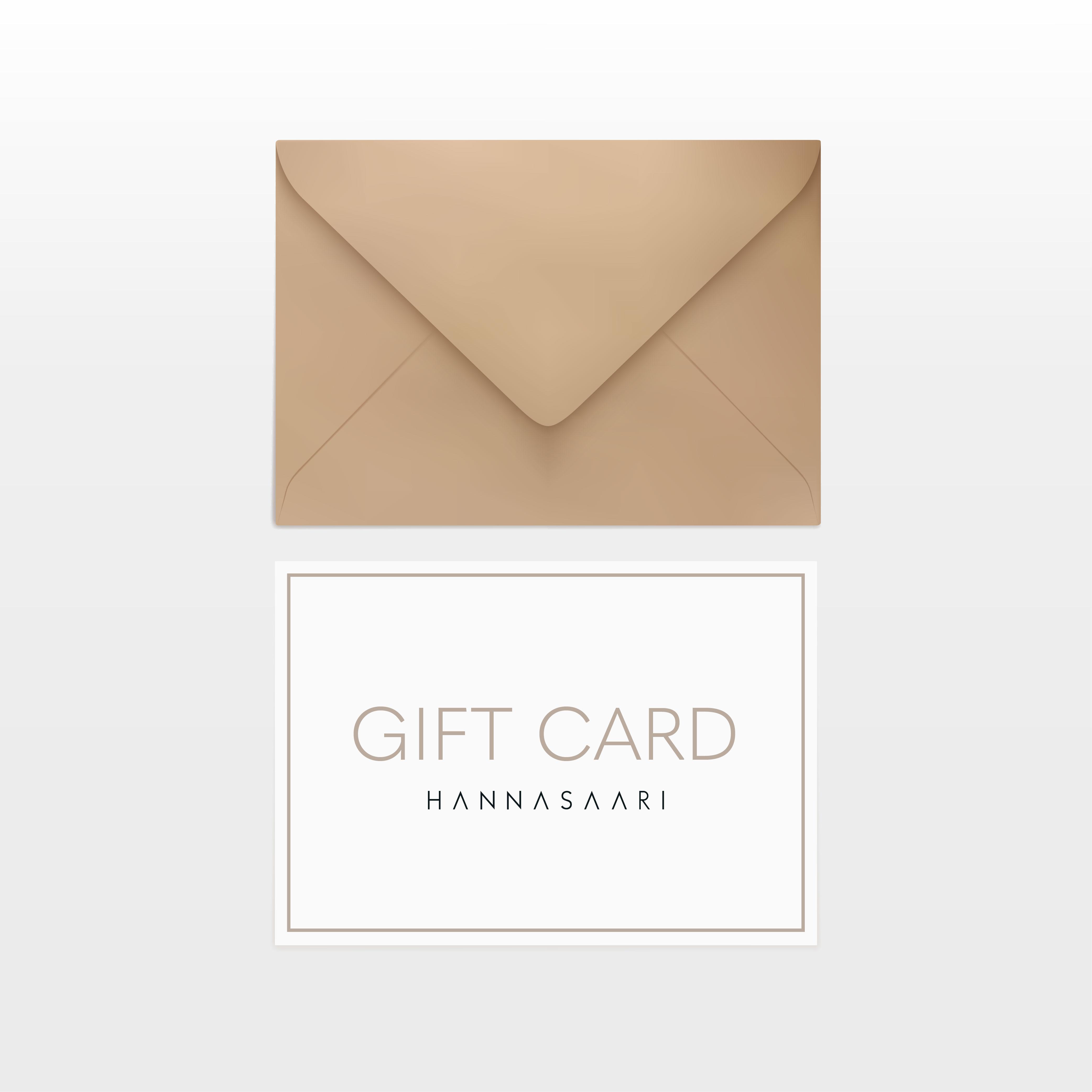 GIFT CARD - lahjakortti