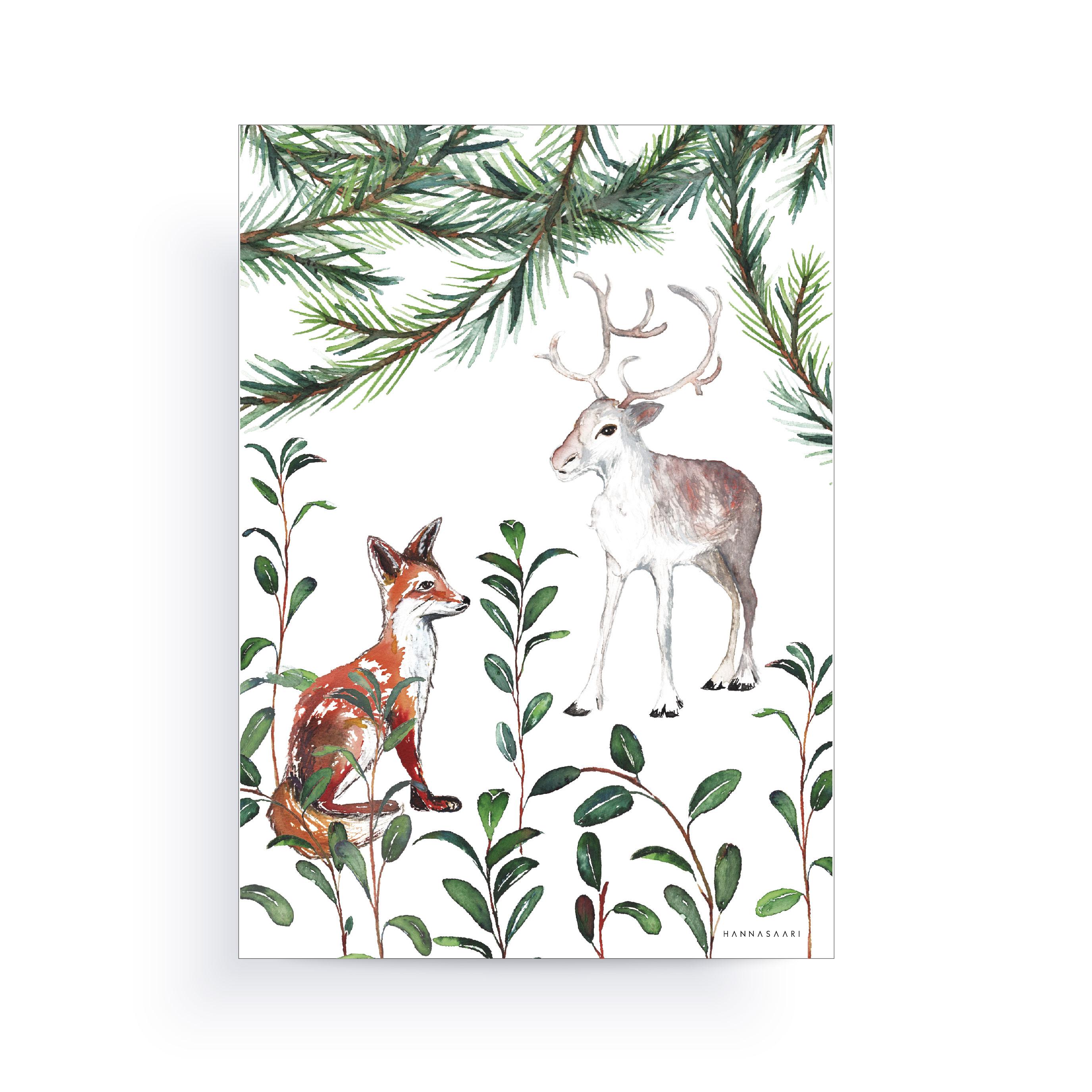 metsä kortti-poster A4