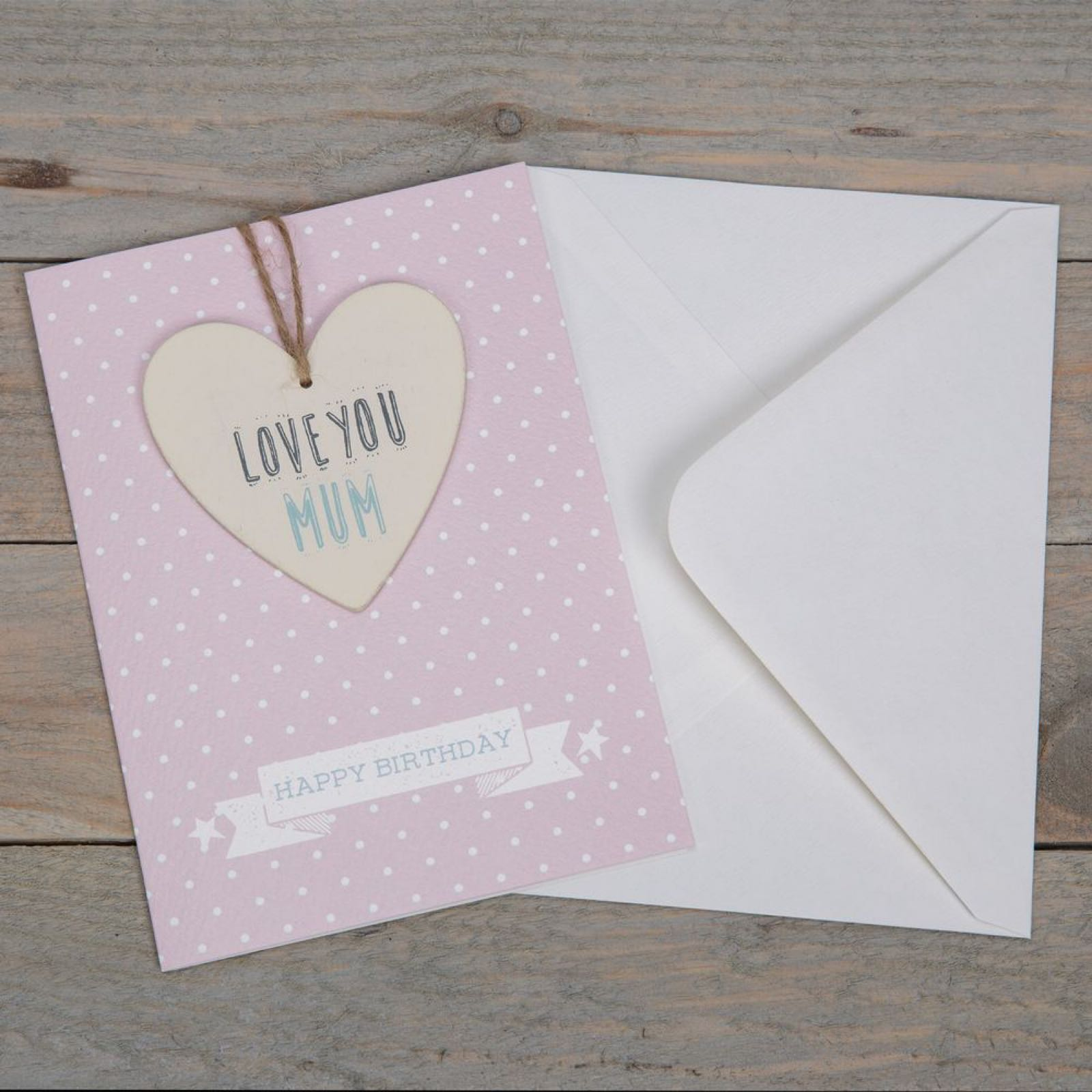 Love You Mum Birthday Greeting Card & Plaque