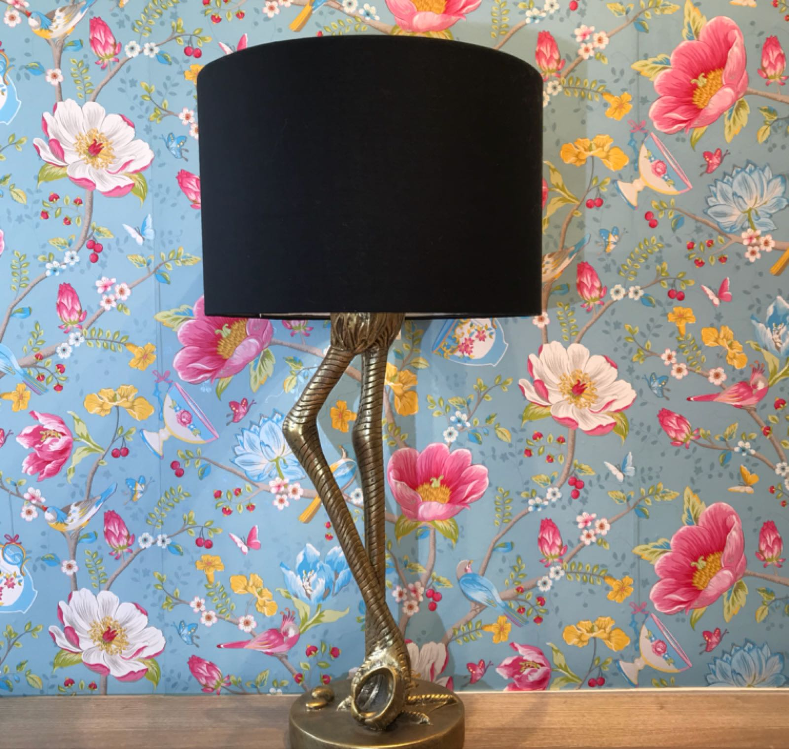 Flamingo leg black lamp small 60cm x 30cm