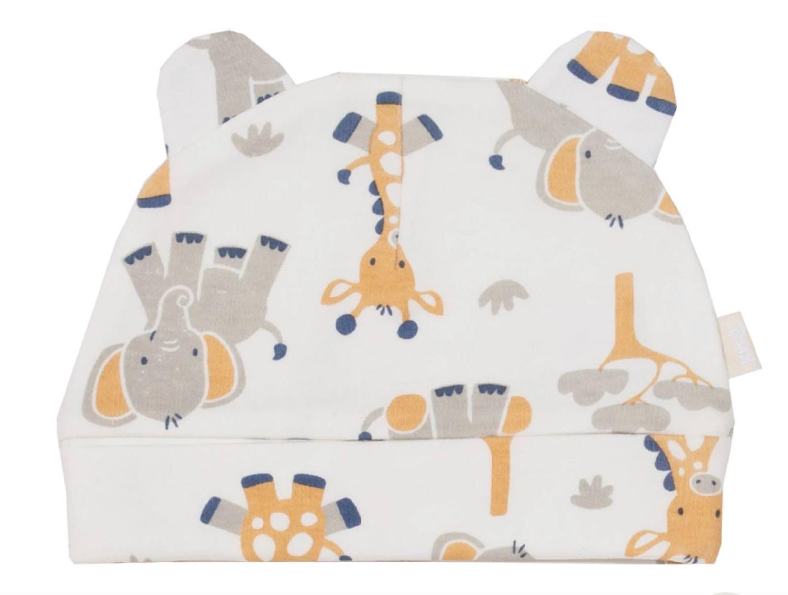 Giraffe and elephant hat  newborn-1 month