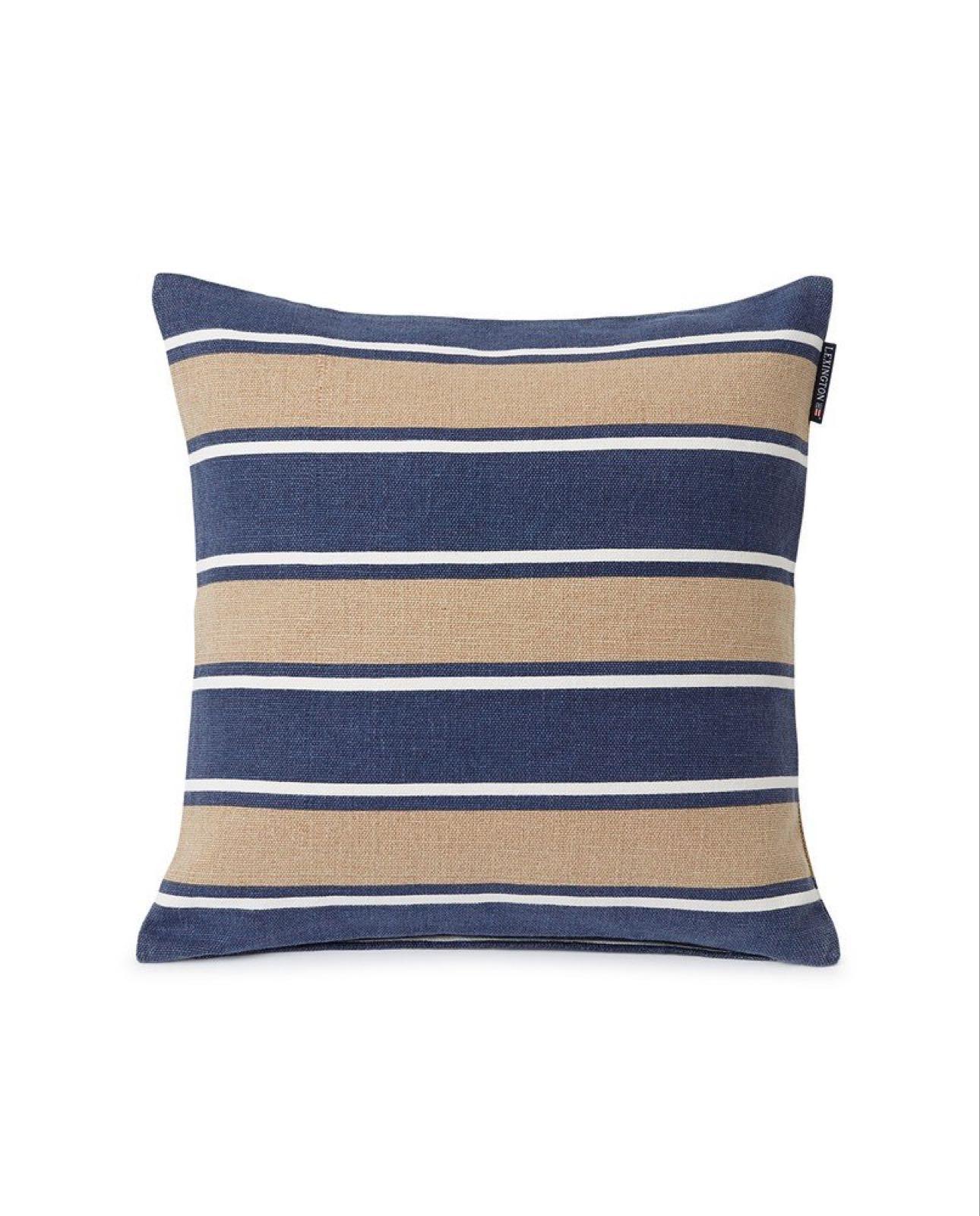 Lexington Printed Stripes 100% resirkulert bomull putetrekk