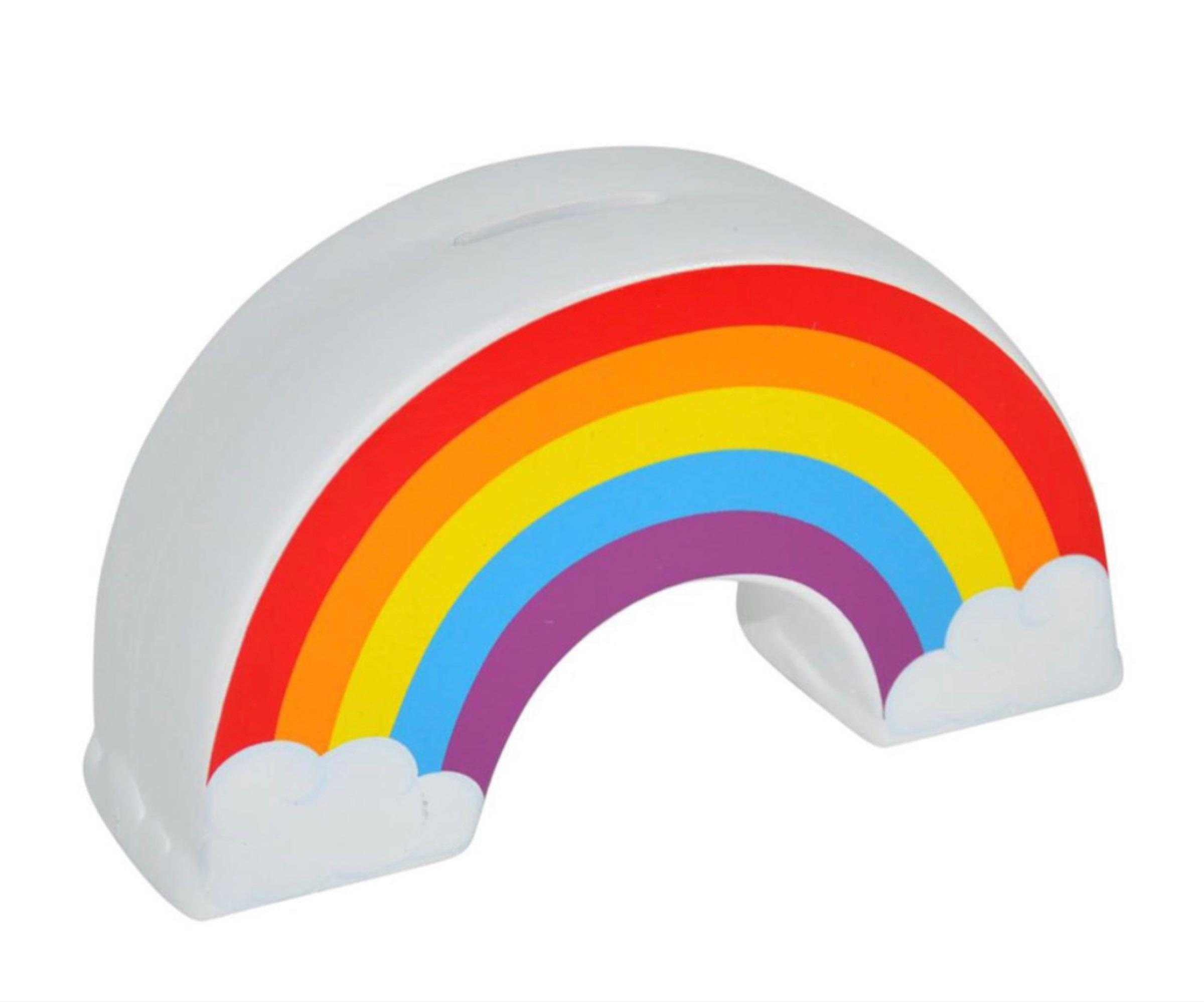 Ceramic Rainbow Money Box  9cmx16cmx5cm