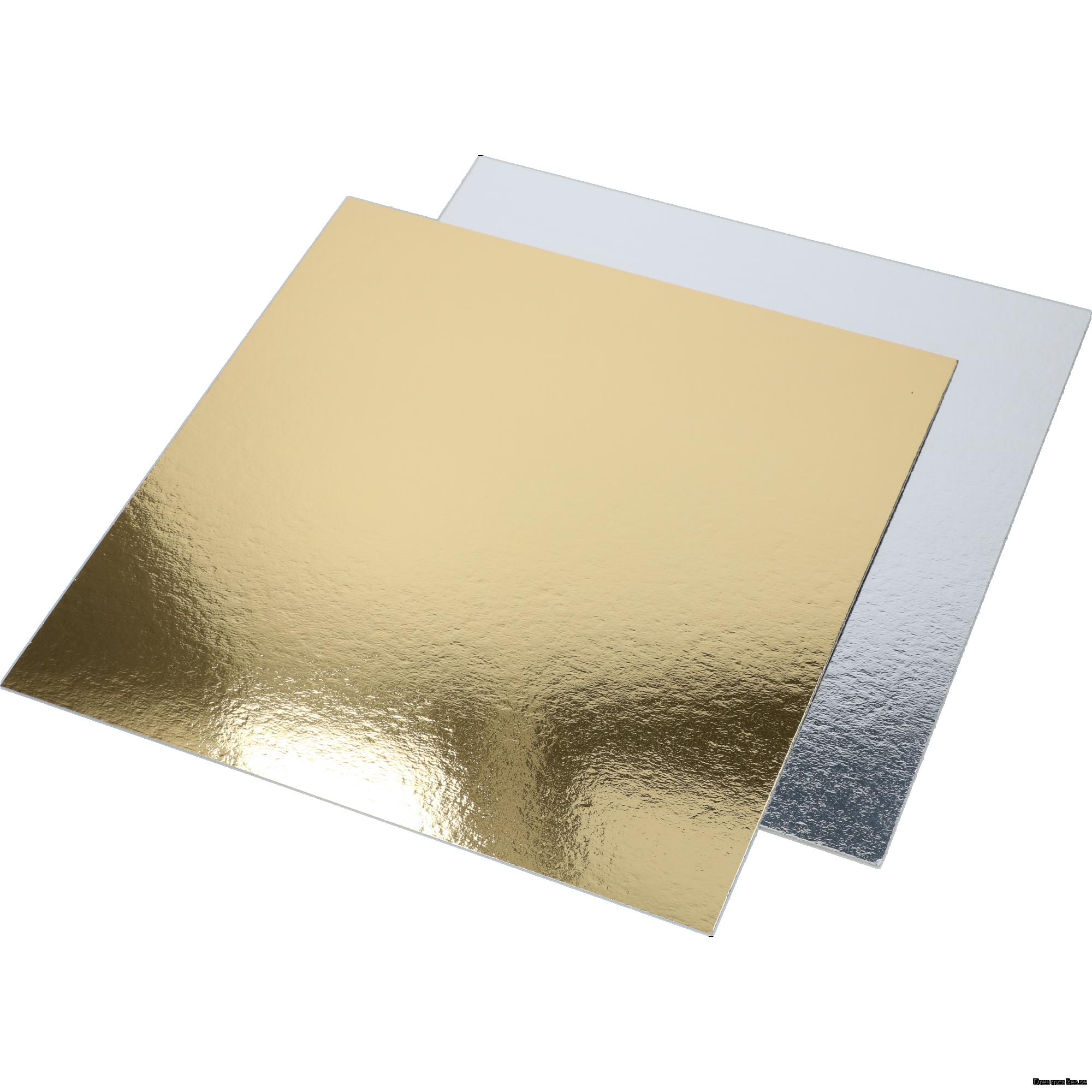 30x30 cm Guld/Silverbricka 10-pack