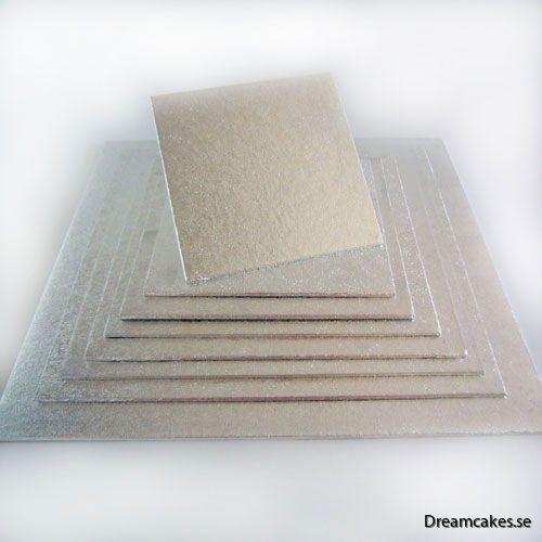20x20cm Tårtbricka kvadrat