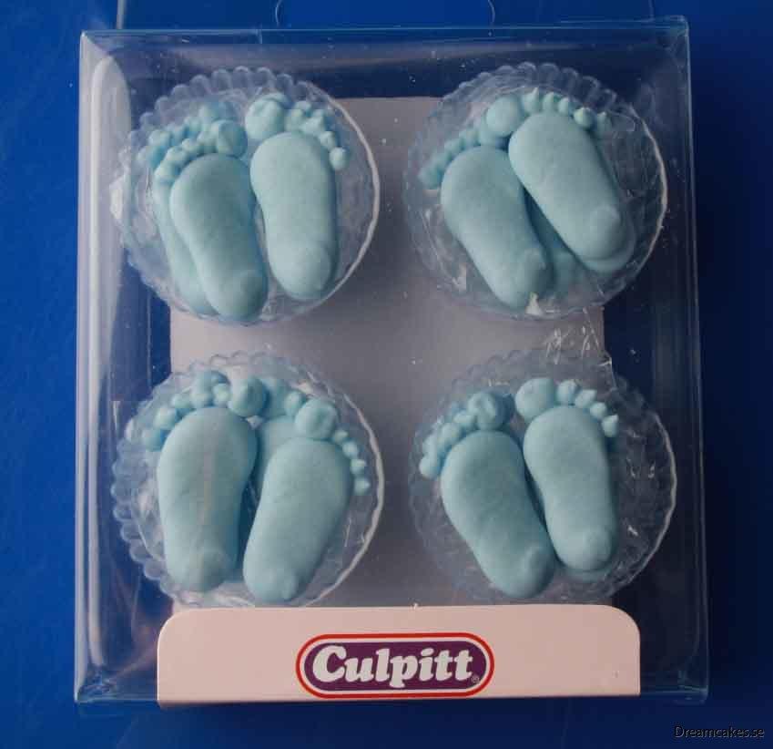 Babyfötter i kristyr - Blå