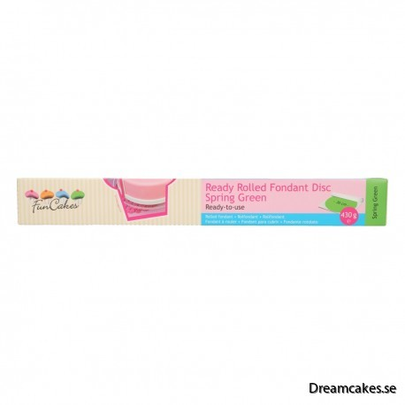 FunCakes Grönt tårtlock i sockerpasta