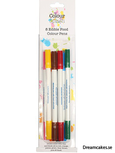 Colour Splash - ätbara pennor 8-pack