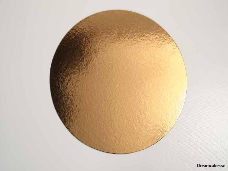 22 cm Guld/Silverbricka
