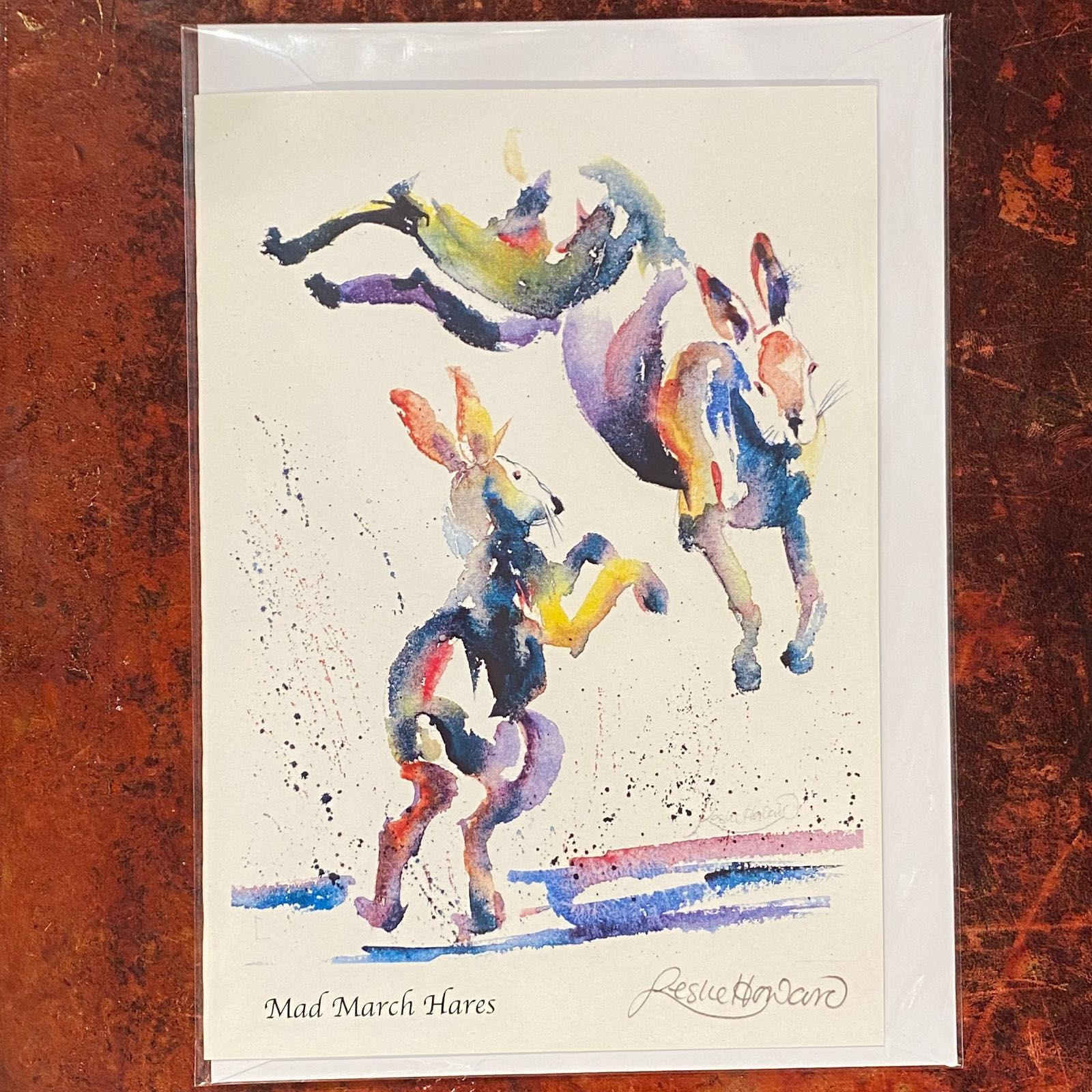 'Mad March Hares' Leslie Howard Card