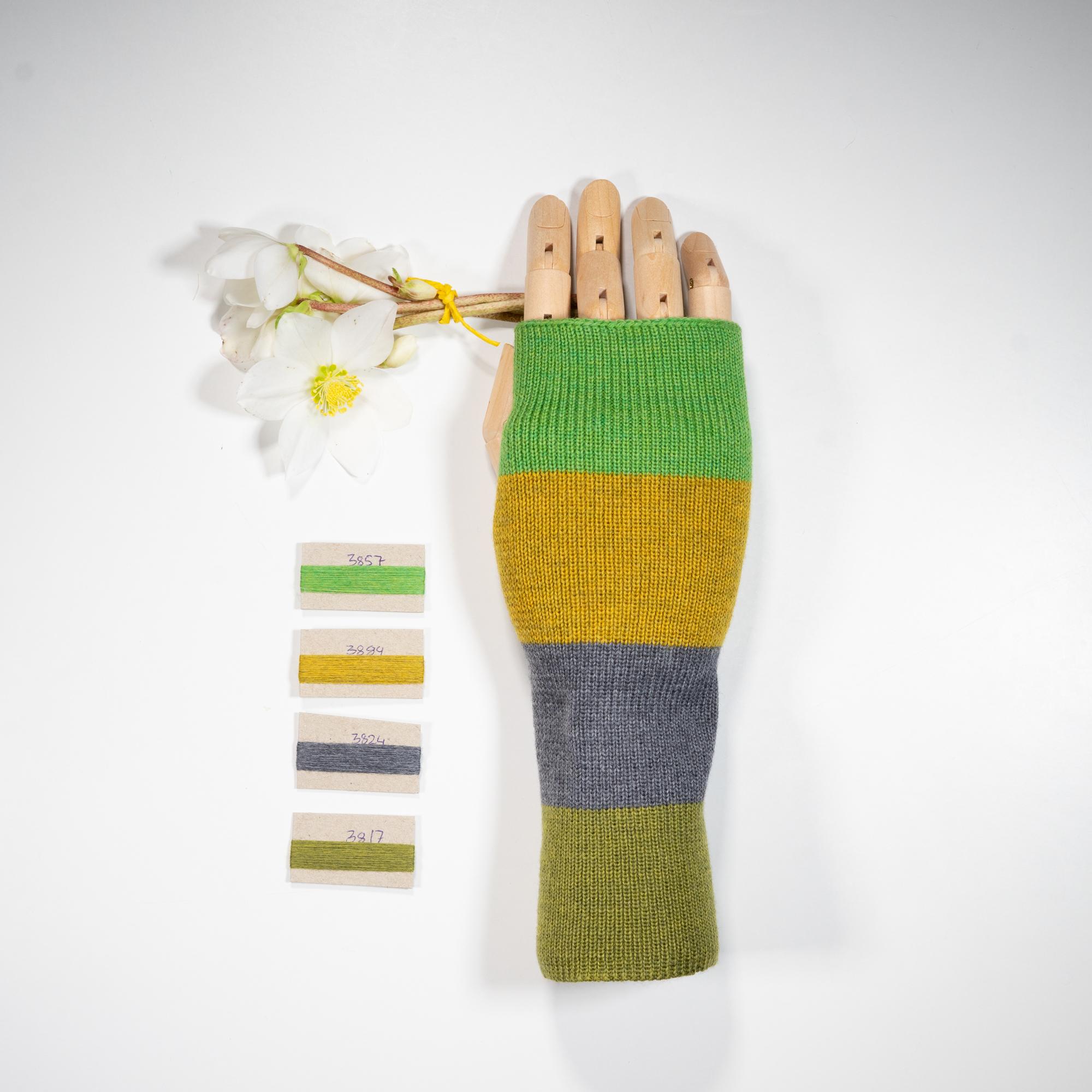 Stribede Håndledsvarmere i uld