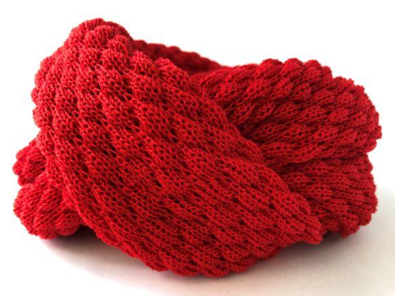 Tubetørklæde postkasse Rød