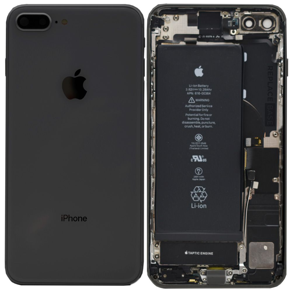 iPhone 8 Plus - Replacement Rear Housing Assembly With Components And Battery - Original + fitting