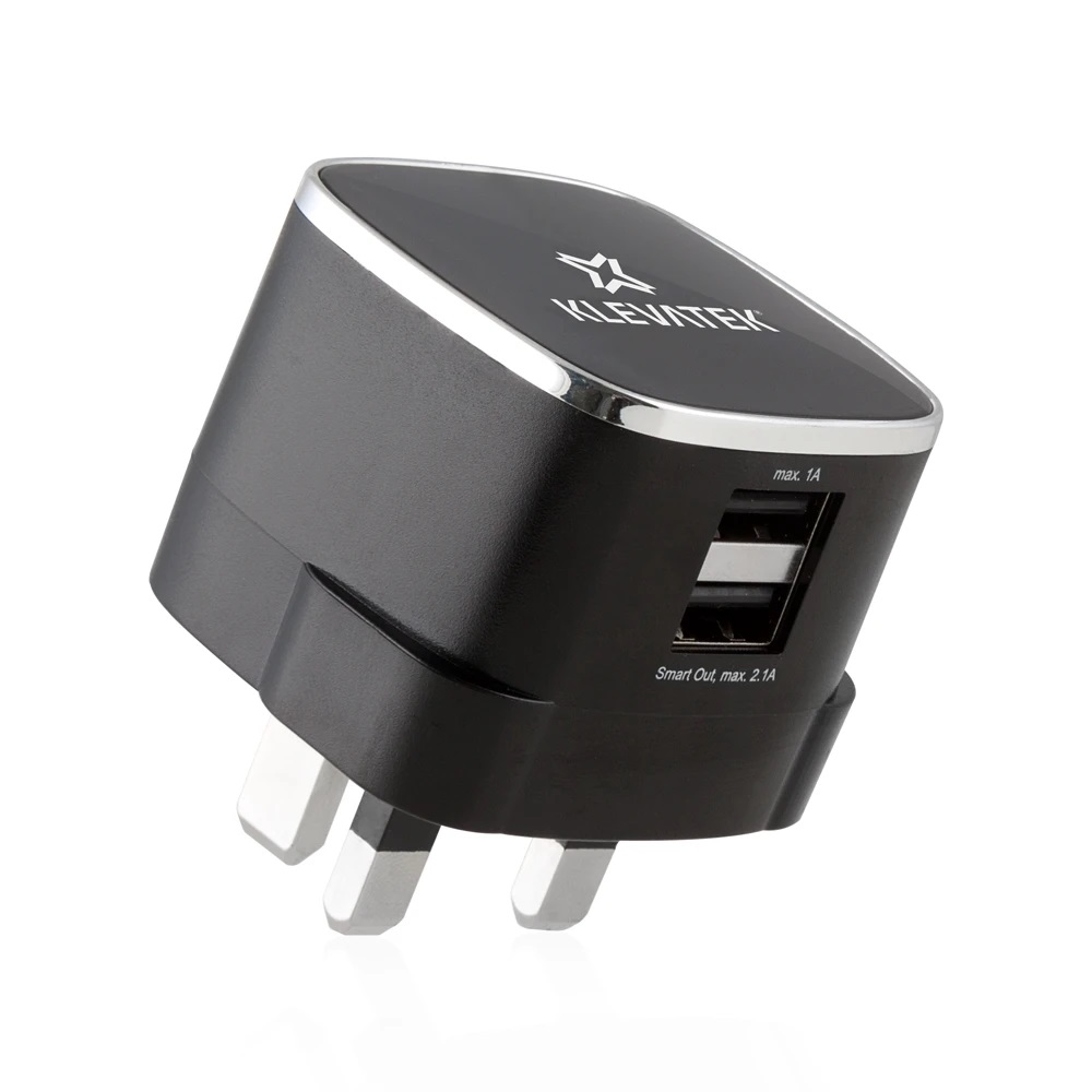KLEVATEK UK Dual USB Smart Charger