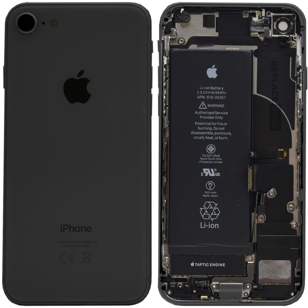 iPhone 8 - Replacement Rear Housing Assembly With Components And Battery - Original + Fitting