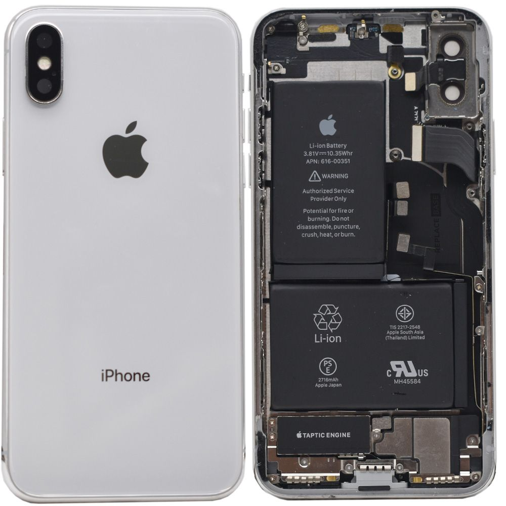 iPhone X - Replacement Rear Housing Assembly With Components And Battery -  Original