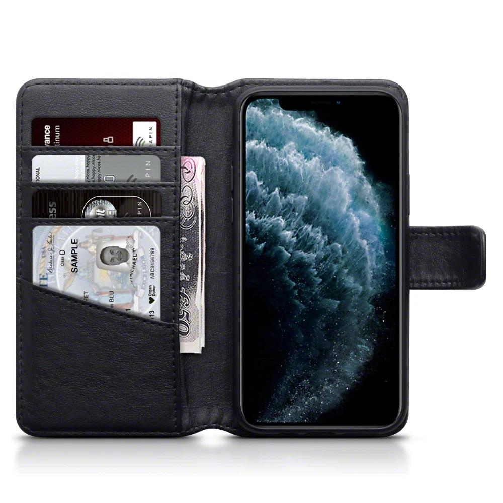 iPhone Genuine leather wallet - Black