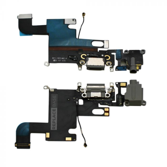 iPhone 6 - Replacement Dock Port Charging Flex Cable With Headphone Jack And Microphone - OEM