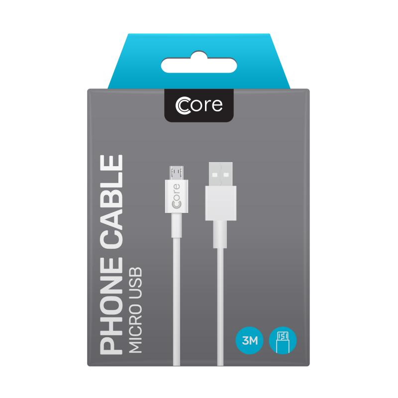 Micro USB Cable 3M White