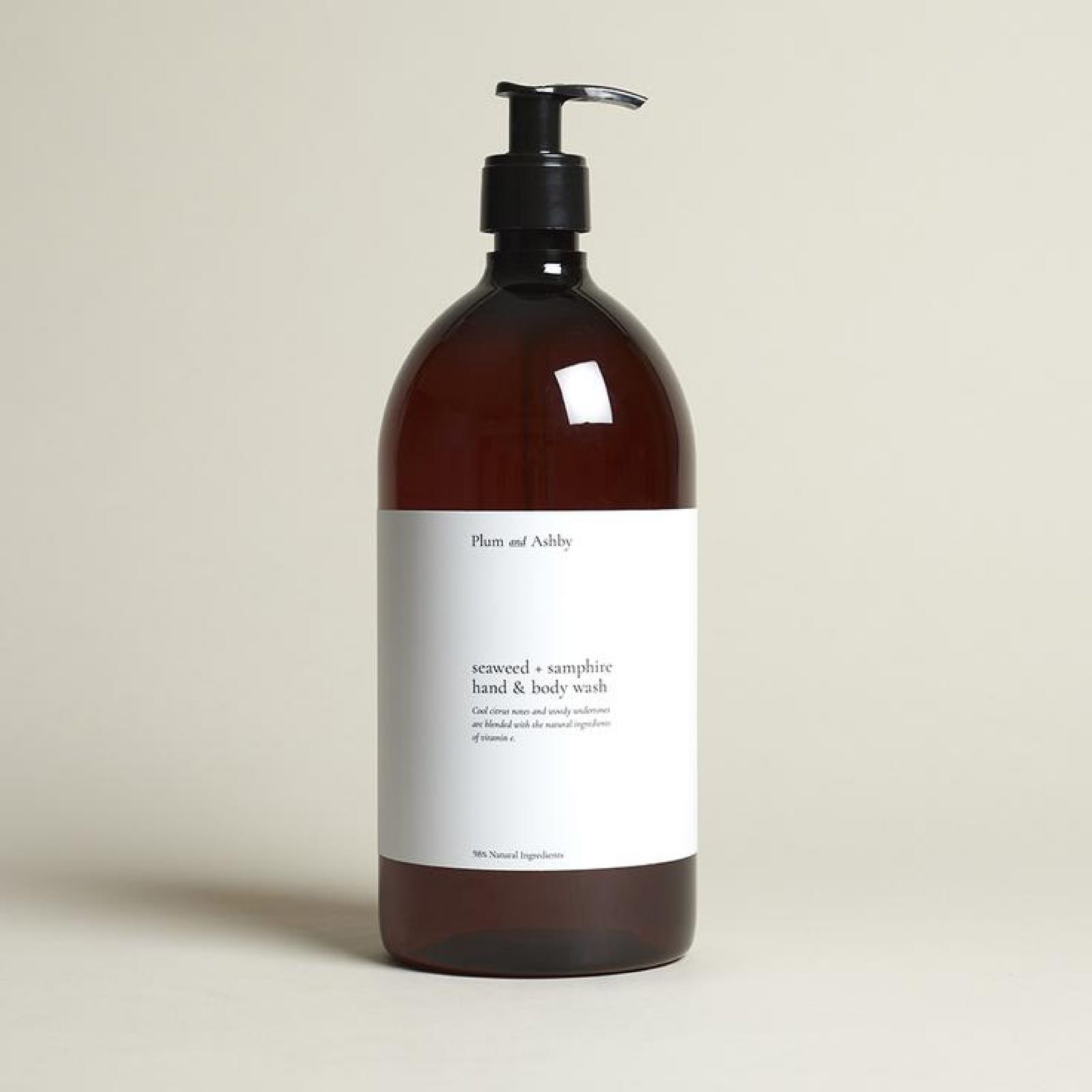 Plum & Ashby Seaweed and Samphire hand and body wash 1 litre refill
