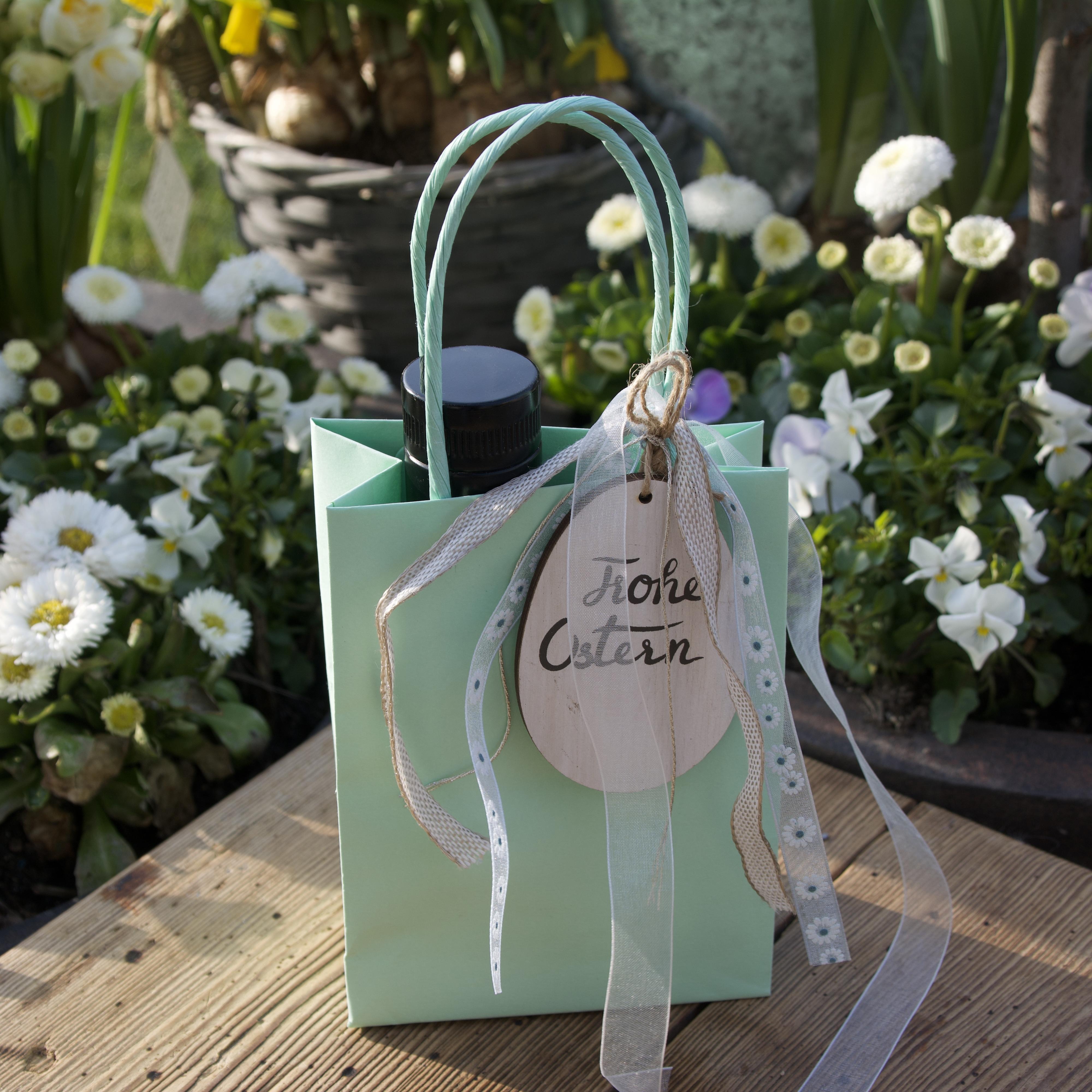 Geschenktütchen mehrfarbig 1x 100ml Öl & 1x 125g Kräutersalz
