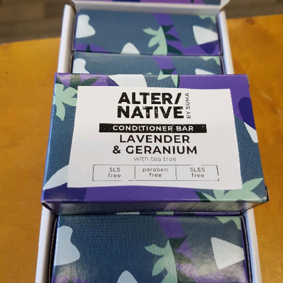 Conditioner Bar. Lavender and Geranium with tea tree