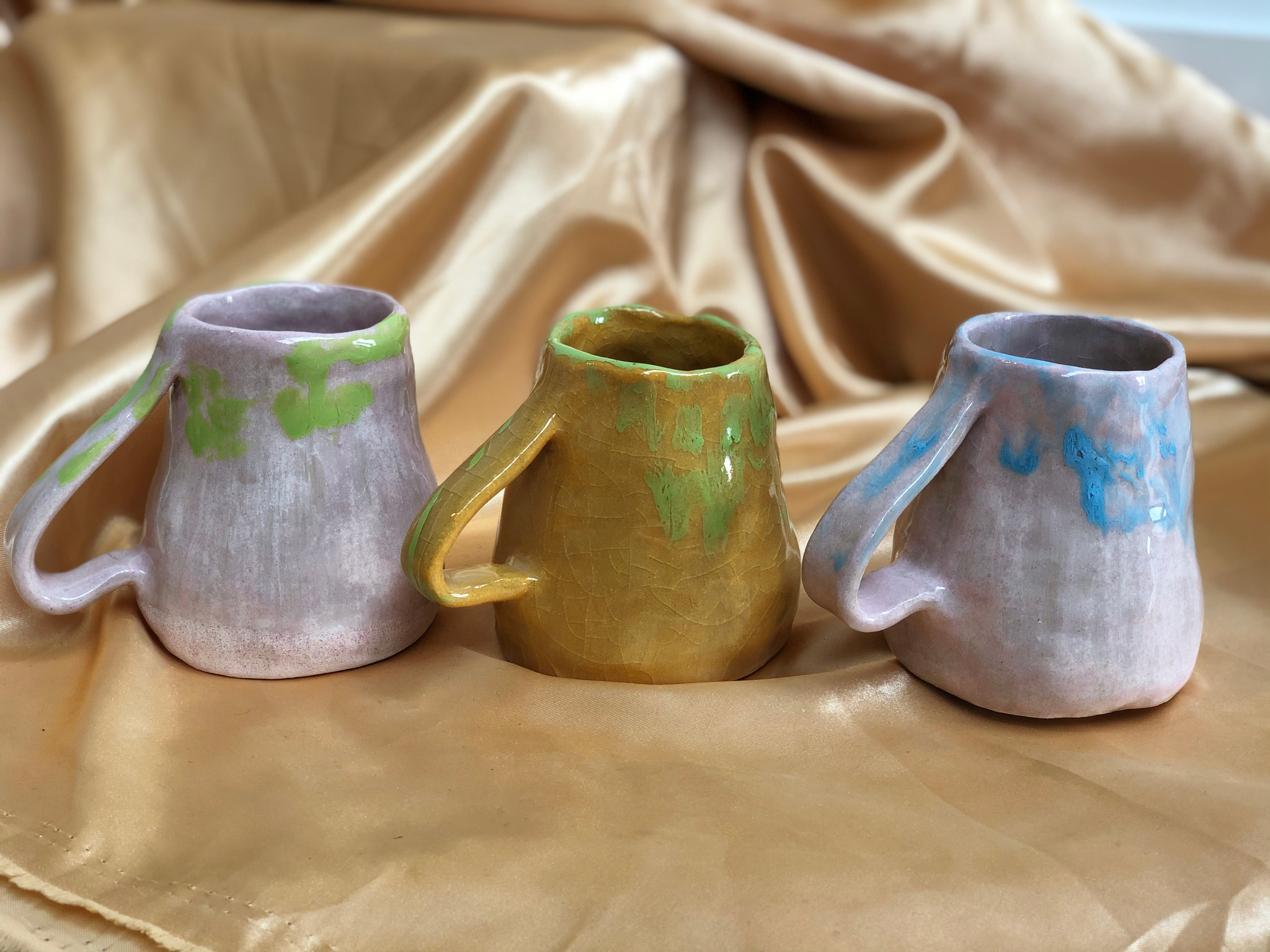 Handmade Earthenware Mugs by Alex Sutherland