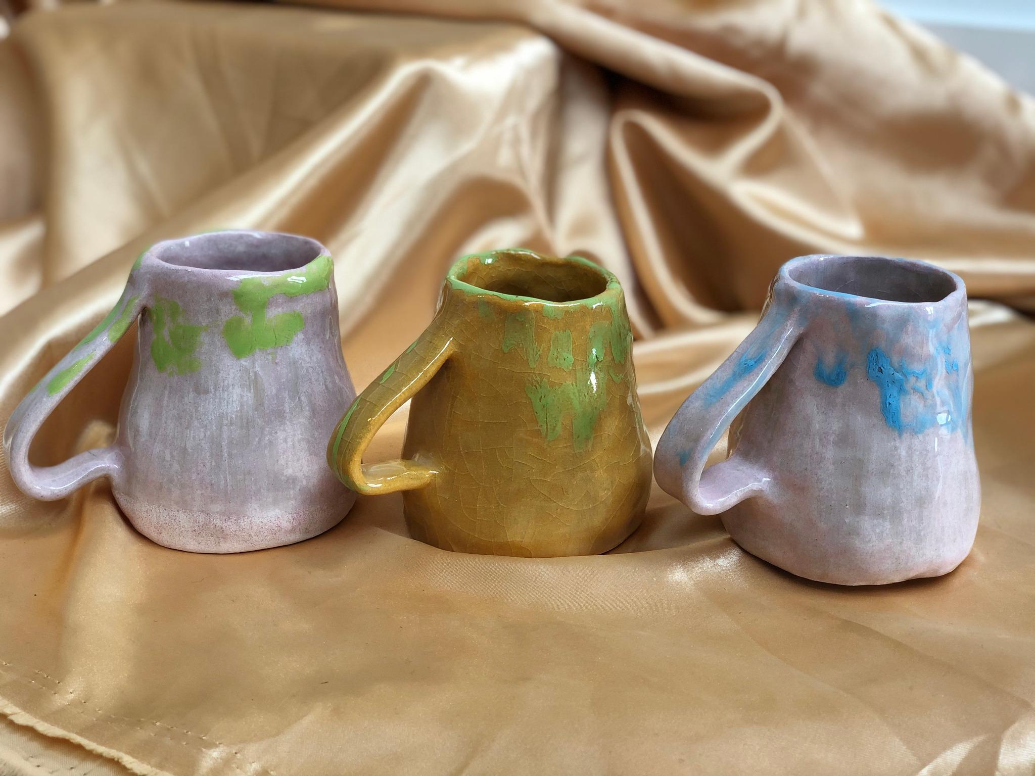Handmade Earthenware Mugs by Alex Sutherland