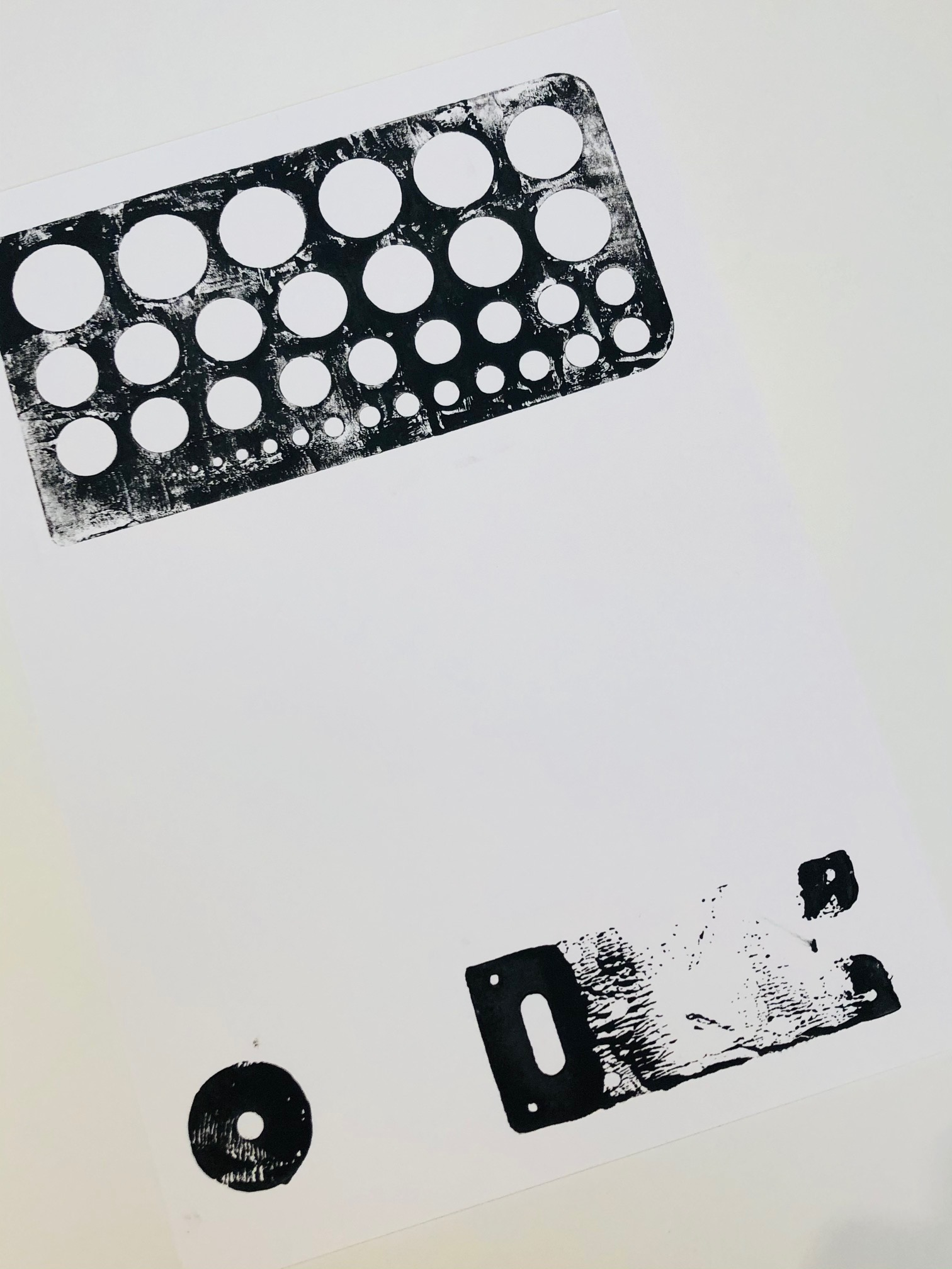 Monoprint 3 by Curtis Rayment