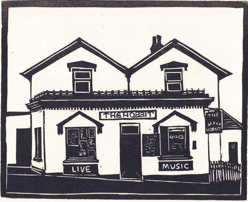 The Hobbit Linocut Print by Carole Westbrook