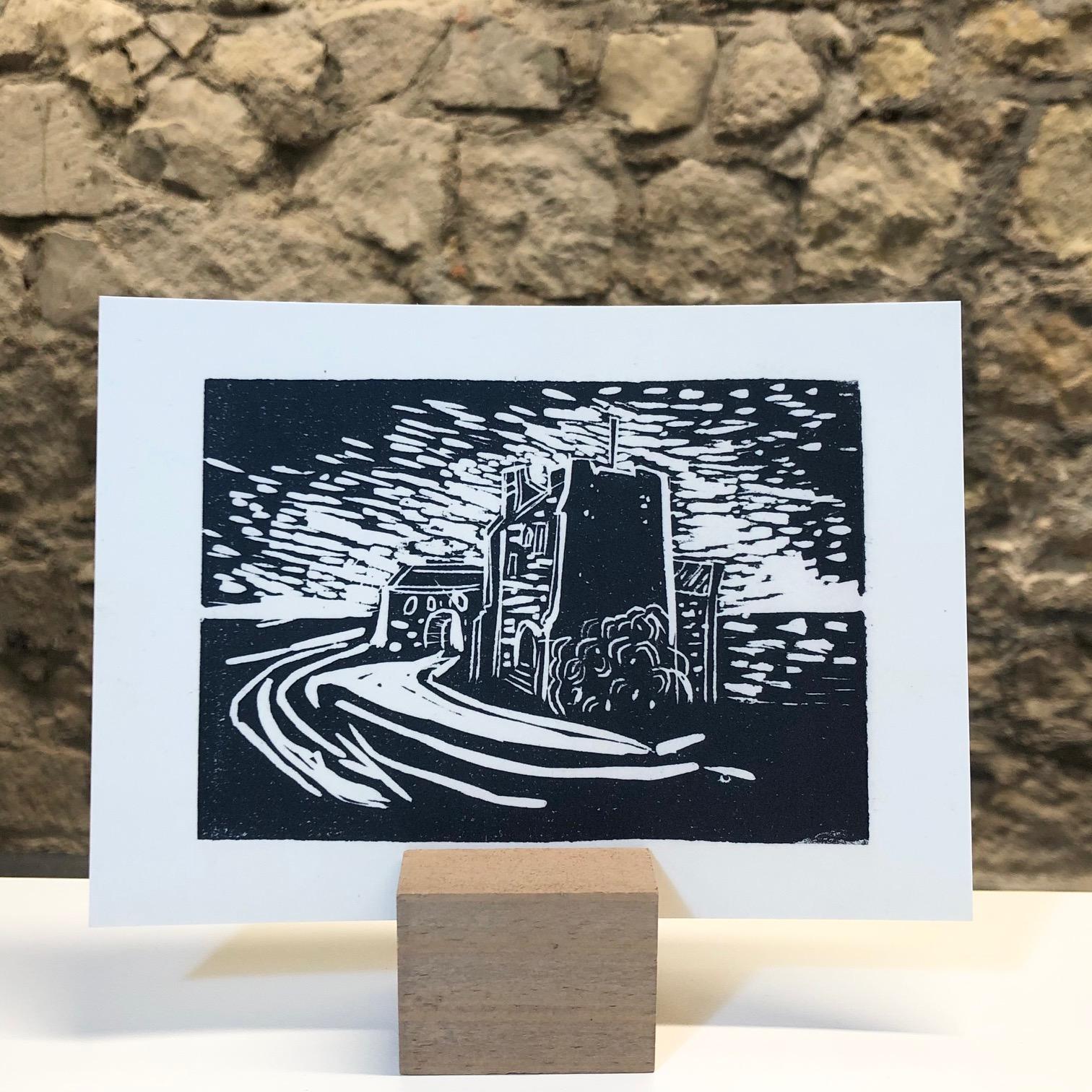 GHT Hand-printed Postcard by Deborah Gearing