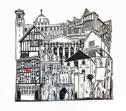 Mini Southampton Heritage Print by Mandy Smith