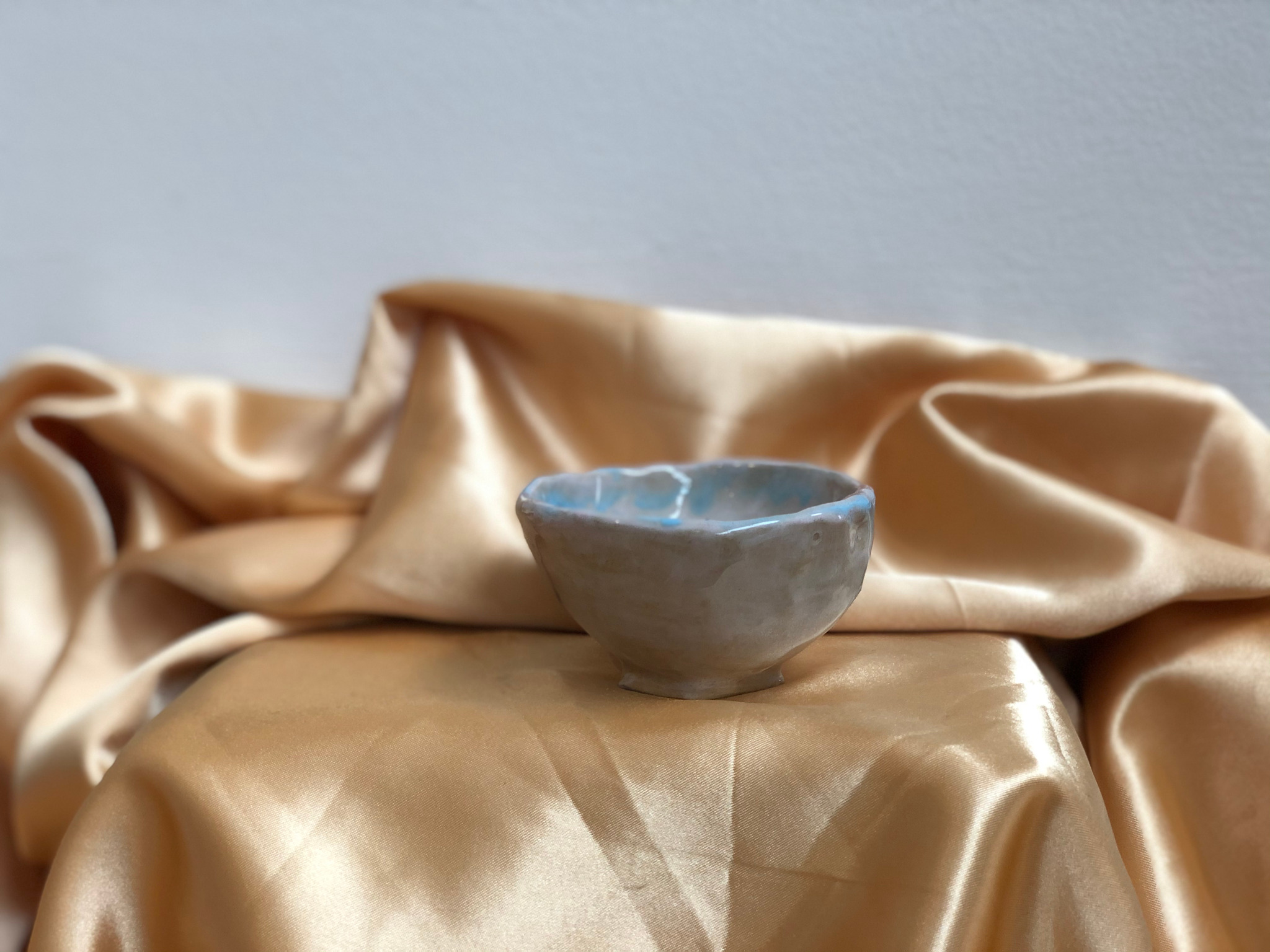 Medium Pink and Blue Bowl by Alex Sutherland