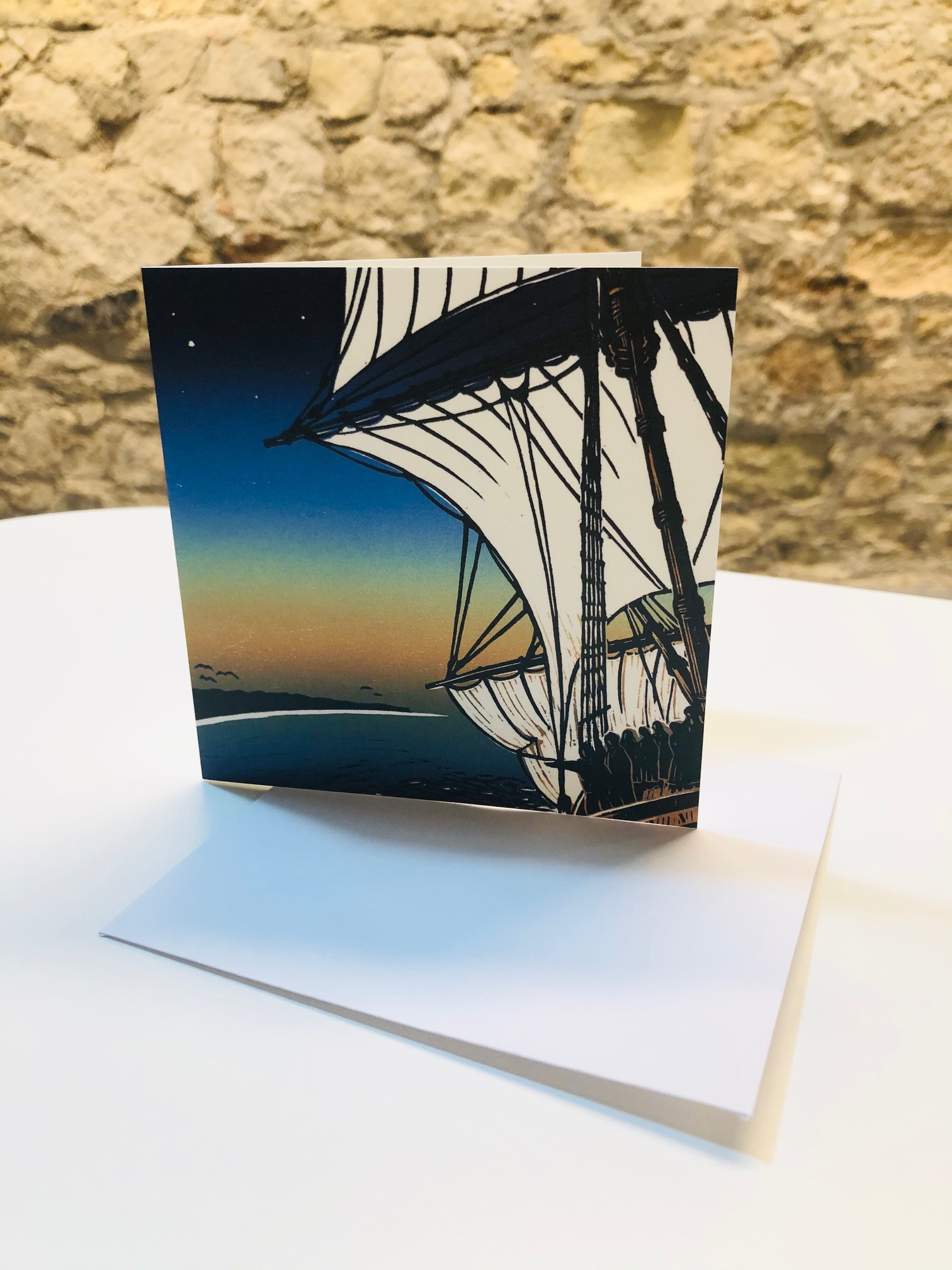 'Downwind off Cape Cod' Greetings Card by Kay Brown