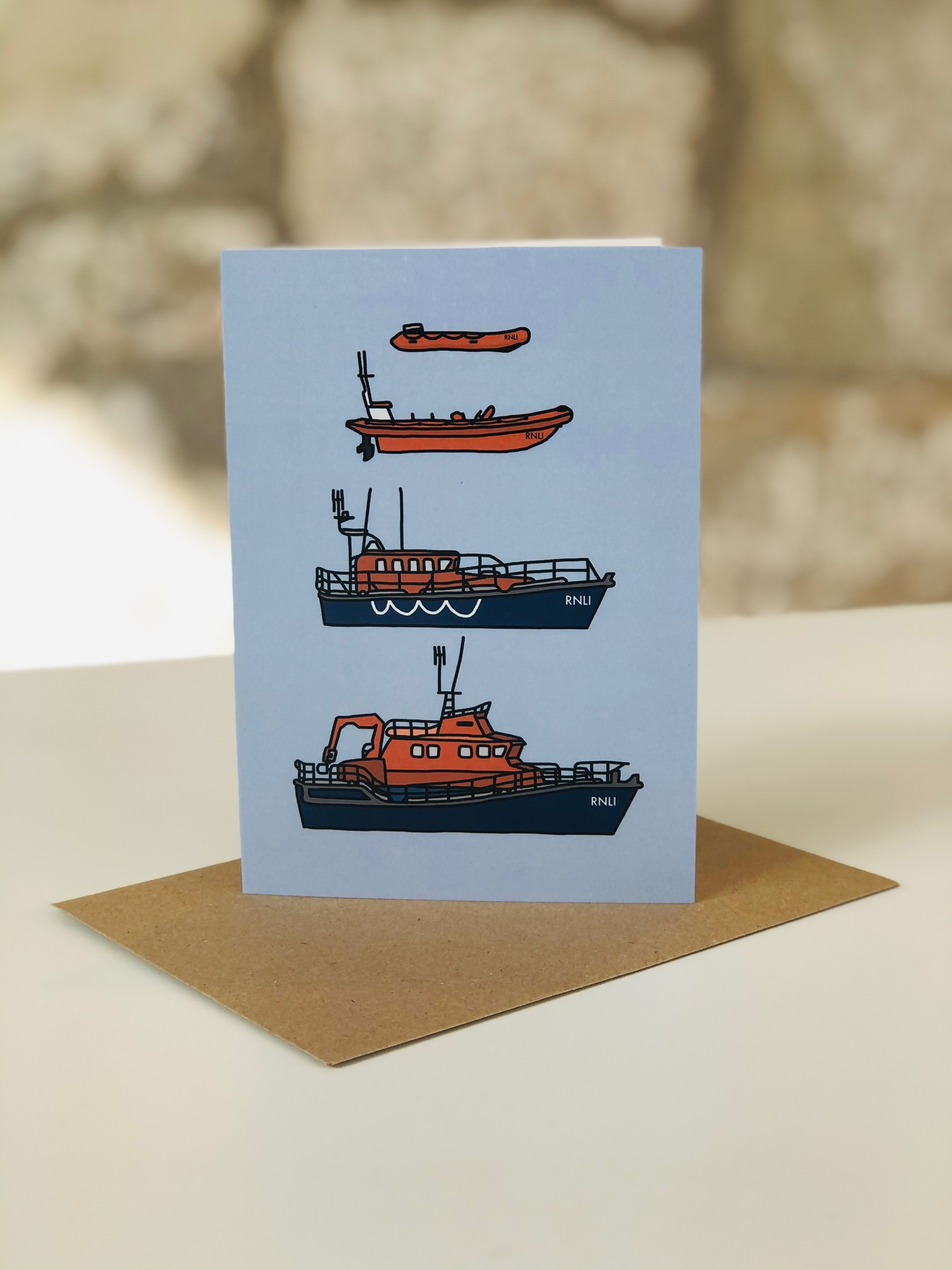 Lifeboats Greetings Card by Emma