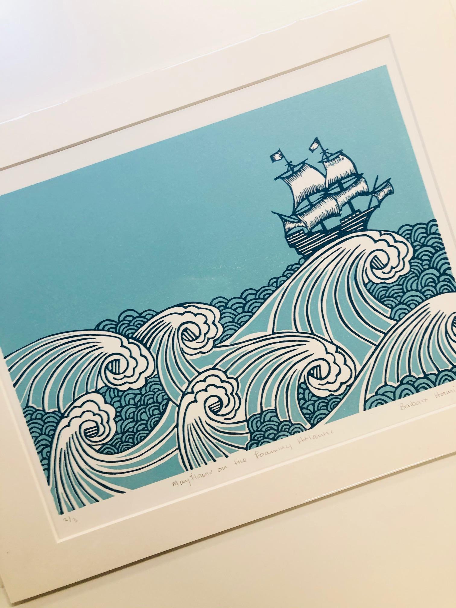 'Mayflower on the Foaming Atlantic' by Barbara Hamilton