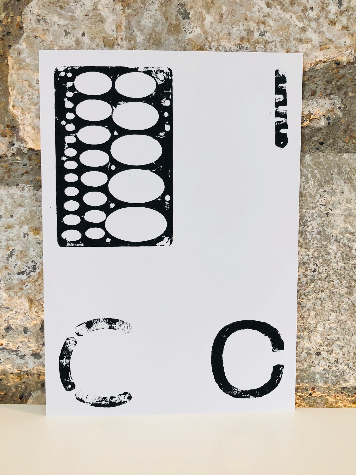 Monoprint 4 by Curtis Rayment