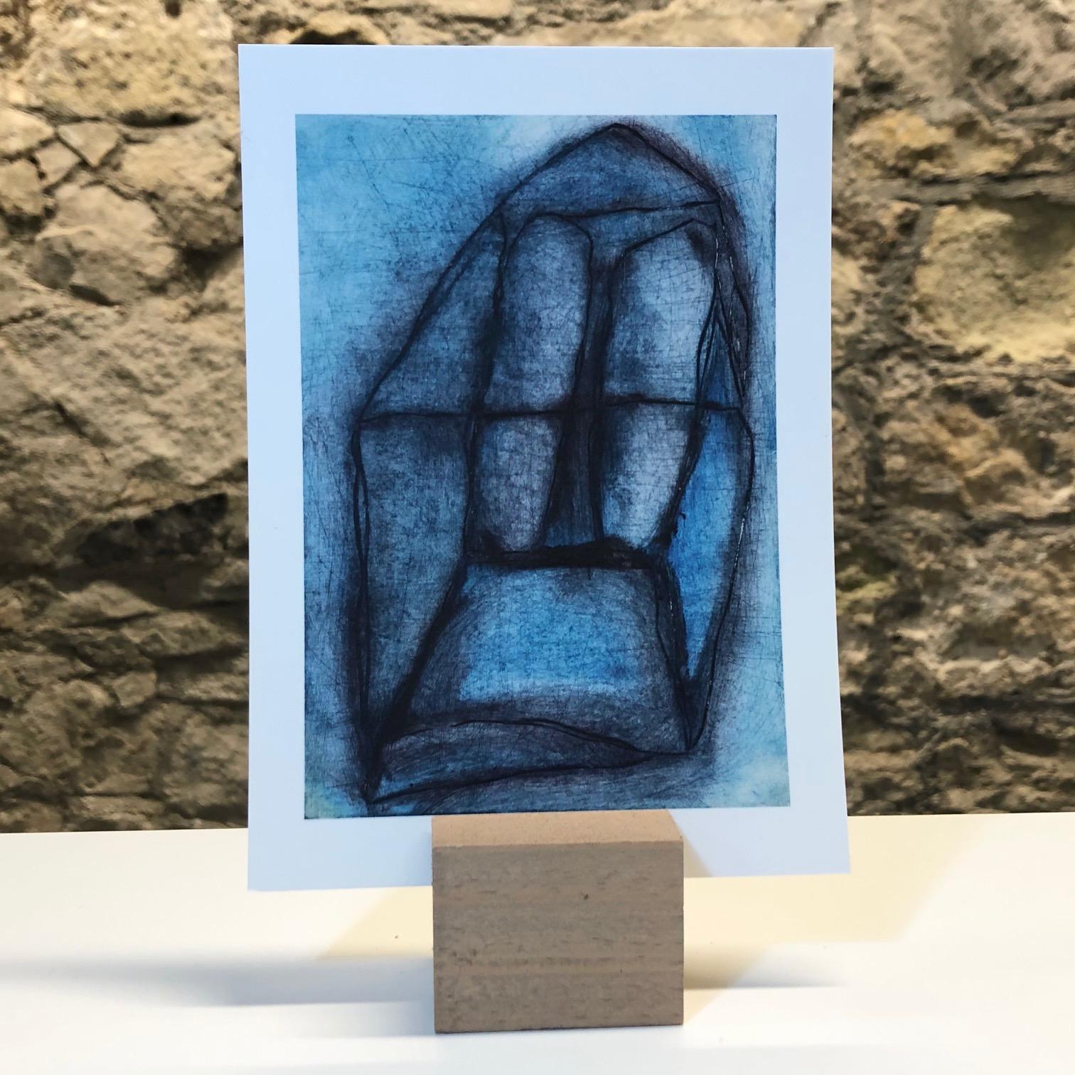 'Window' Hand-printed Postcard by Deborah Gearing