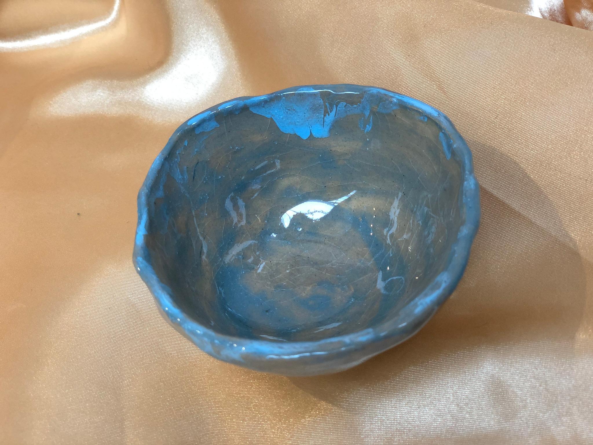 Small Blue Ceramic Bowl by Alex Sutherland