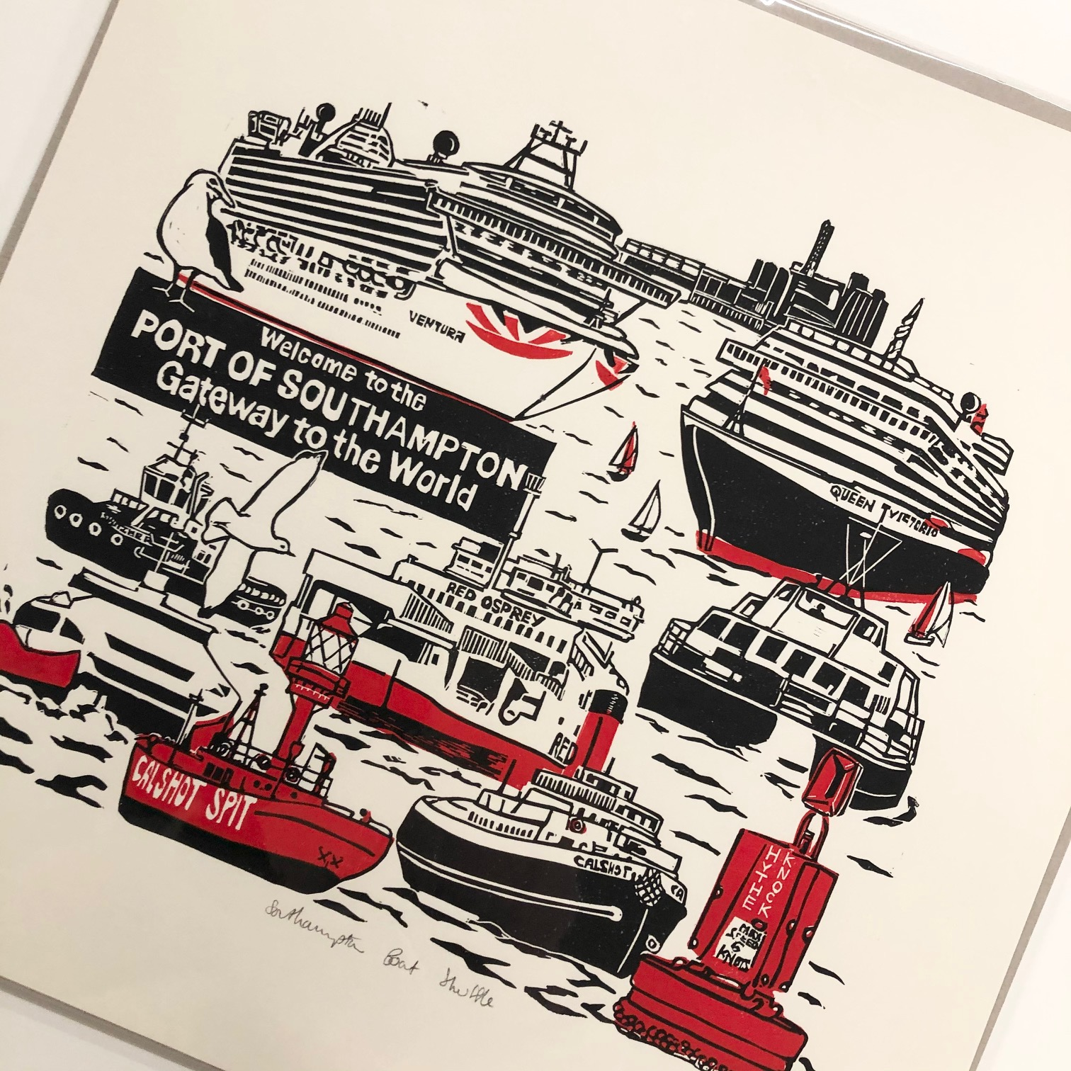 Southampton Boat Shuffle Limited Edition Print by Mandy Smith