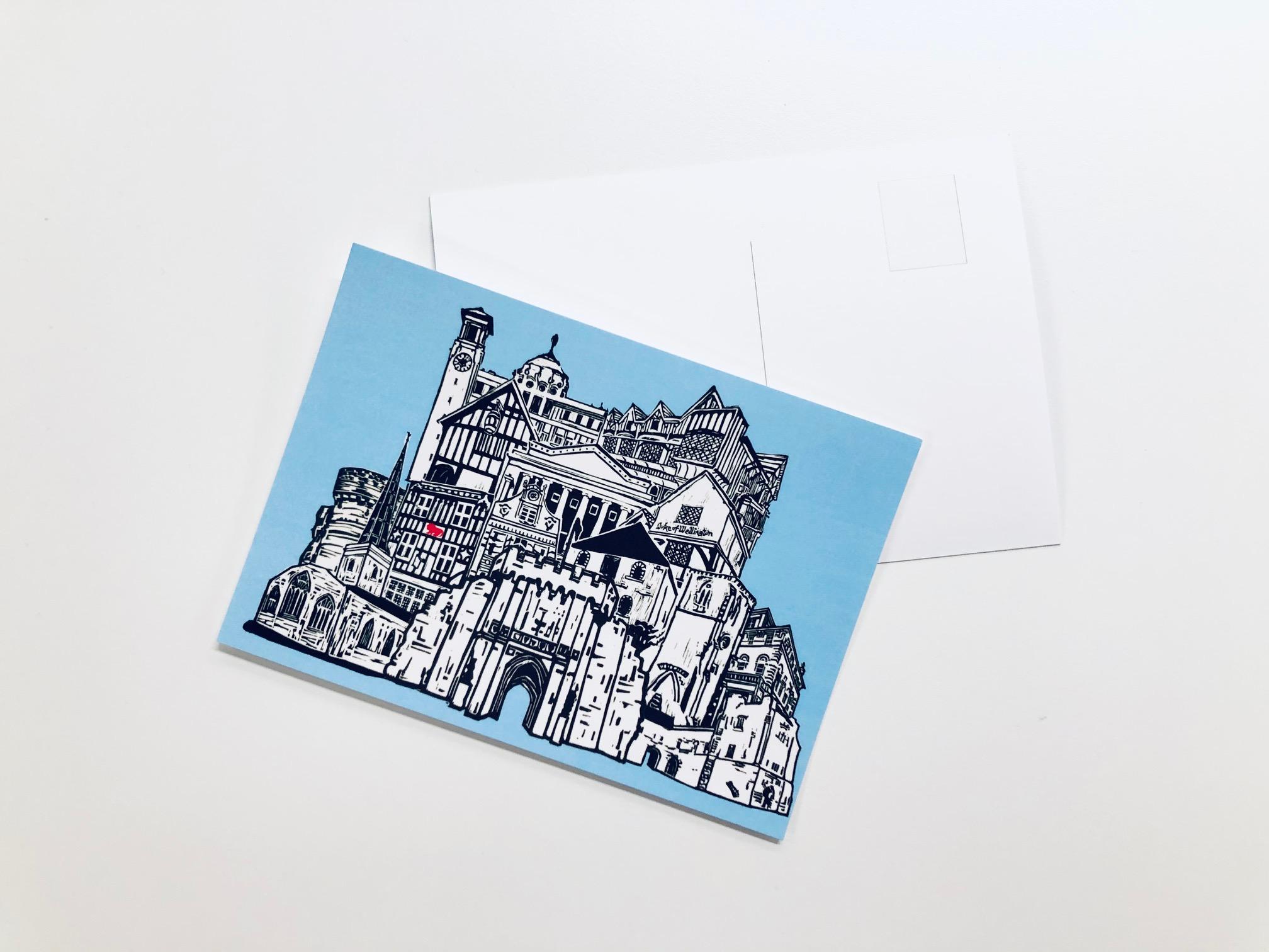Heritage Cityscape Postcard by Mandy Smith
