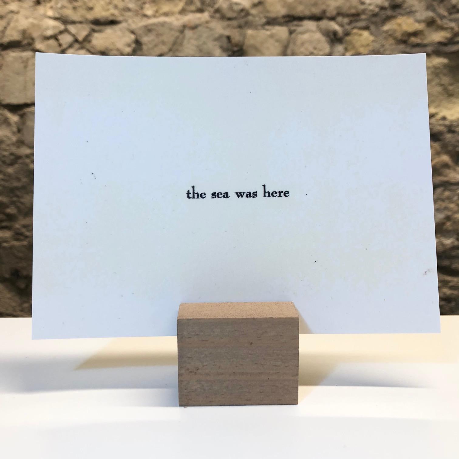 'The Sea' Hand-printed Postcard by Deborah Gearing