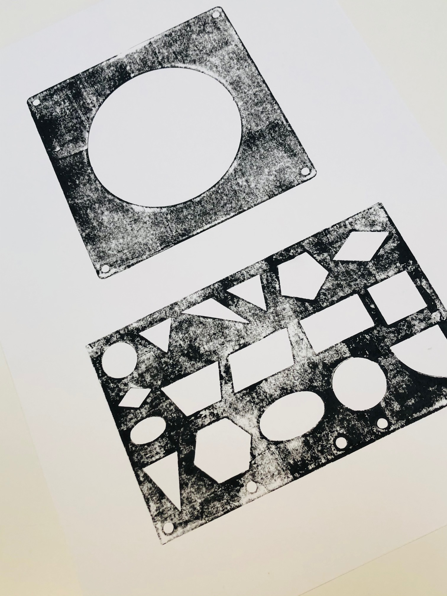 Monoprint 1 by Curtis Rayment